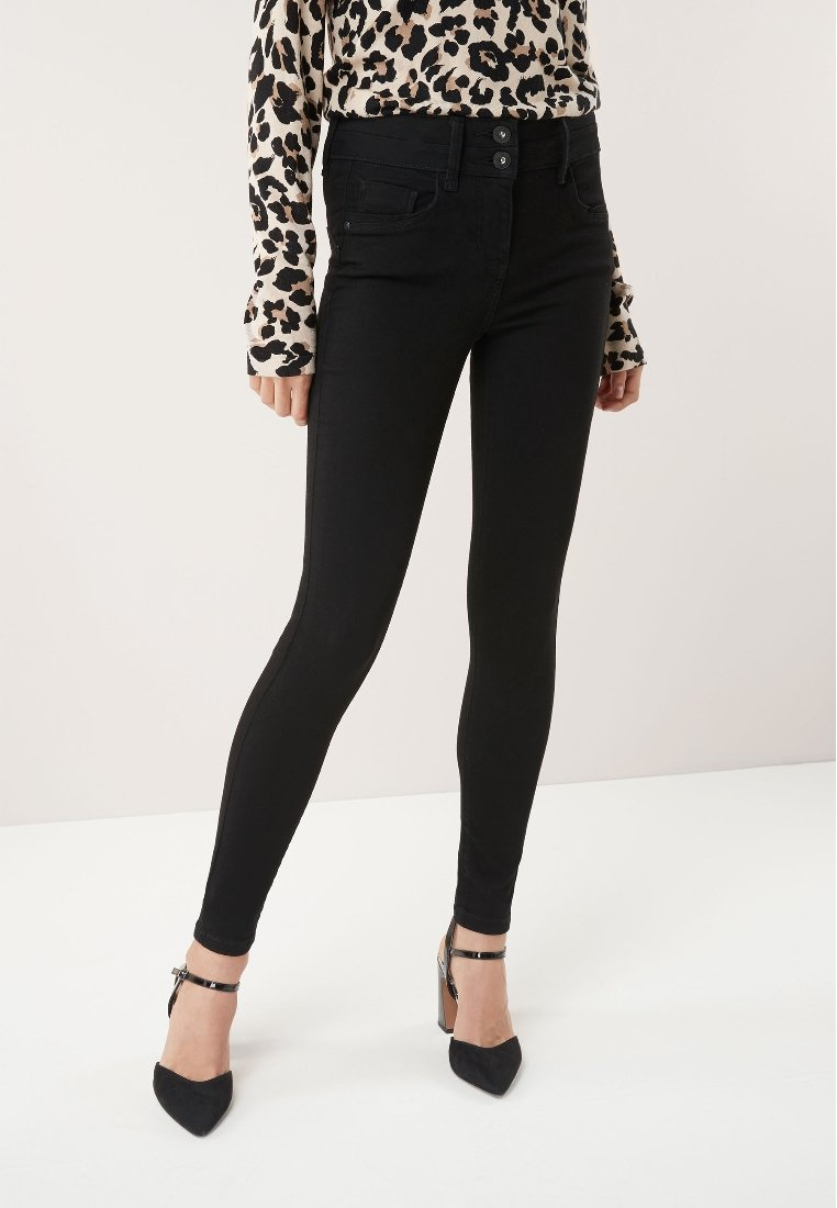 Next LIFT AND SHAPE - Jeansy Skinny Fit - black