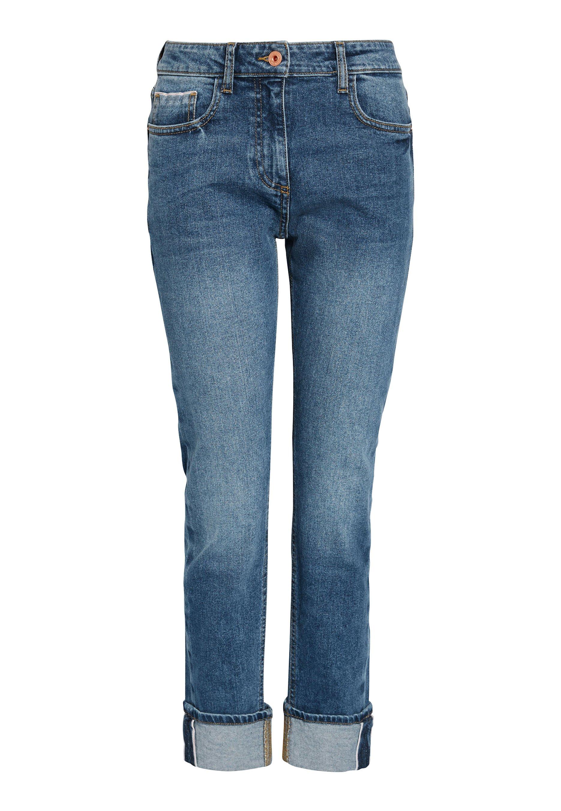 TURN UP Jeans Straight Leg blue