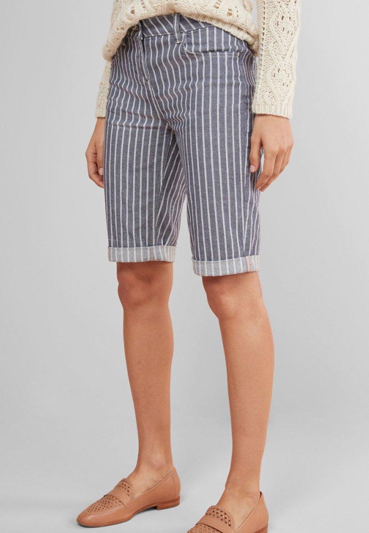 Next - Jeans Shorts - mottled dark blue