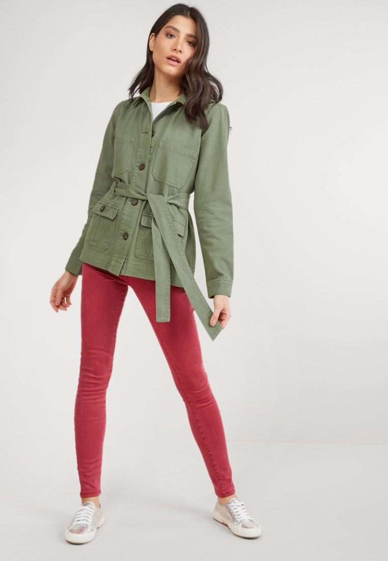Next - Jeansjacke - green