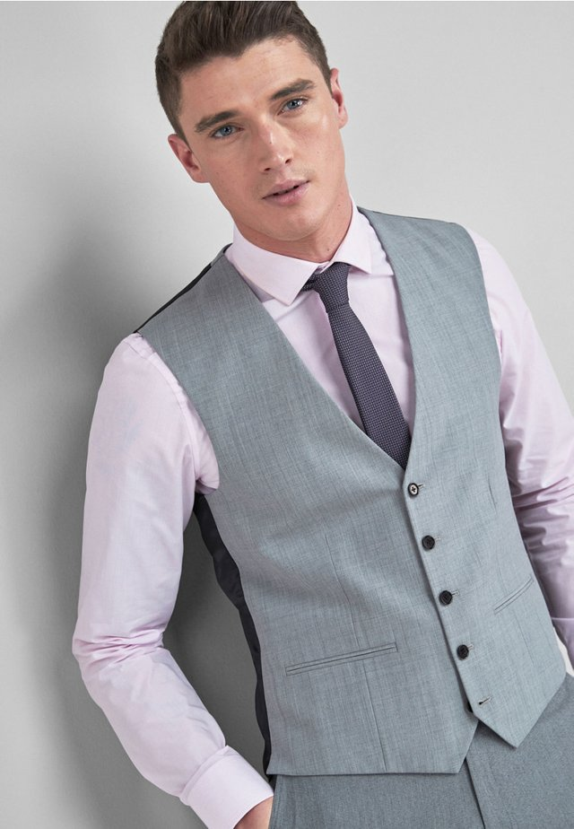 STRETCH TONIC SUIT: WAISTCOAT - Kostymväst - light grey