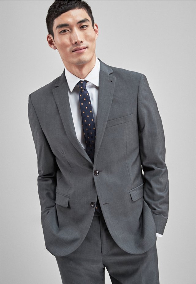 SIGNATURE PLAIN SUIT: JACKET-SLIM FIT - Puvuntakki - grey