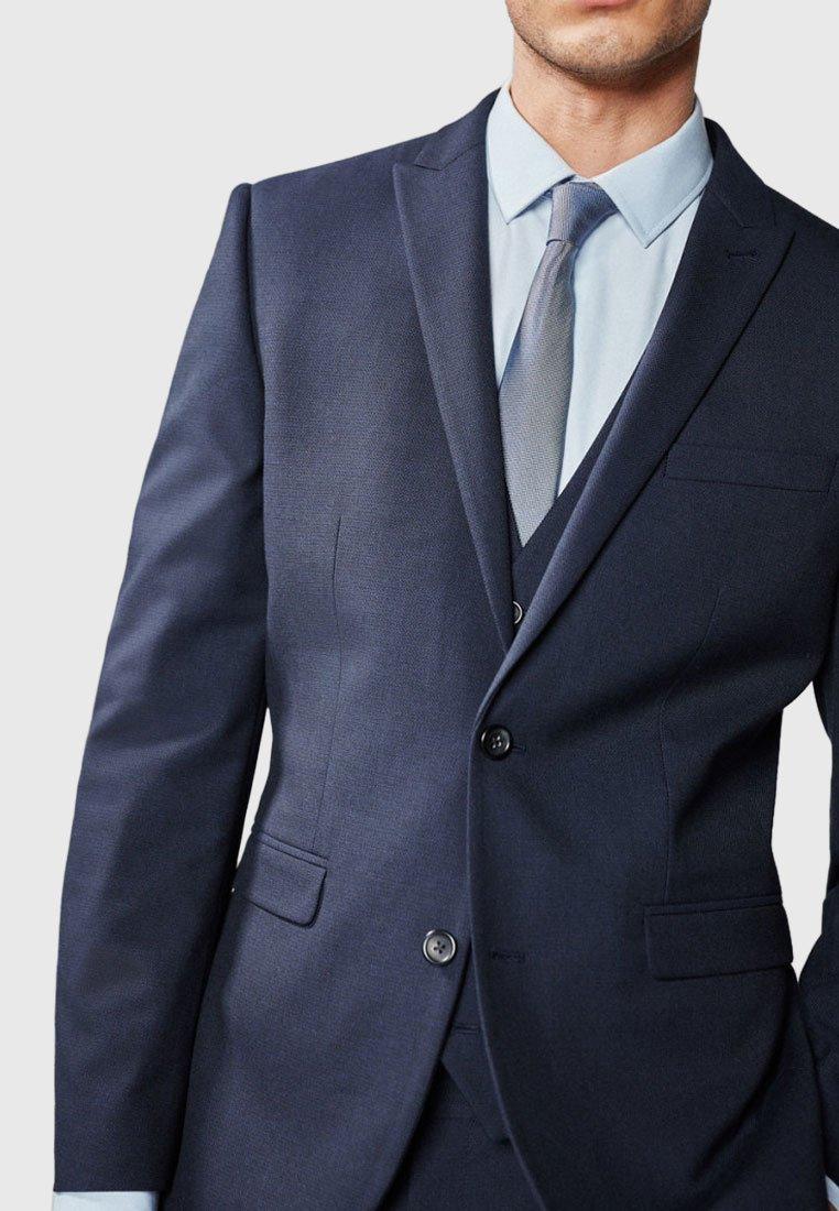 Next Navy Slim Fit Textured Suit: Jacket - Kavaj Dark Blue