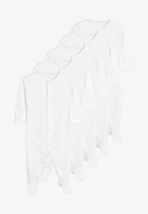 5 PACK  - Sleep suit - white