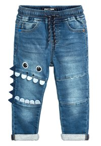 Next - MID BLUE MONSTER CHARACTER JEANS (3MTHS-7YRS) - Jeans slim fit - blue - 0