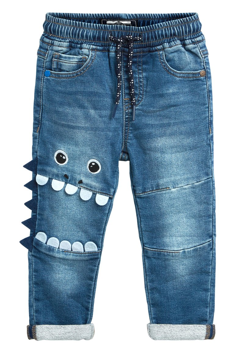 Next - MID BLUE MONSTER CHARACTER JEANS (3MTHS-7YRS) - Jeans slim fit - blue
