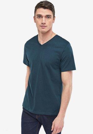V-NECK T-SHIRT - T-shirt basique - green