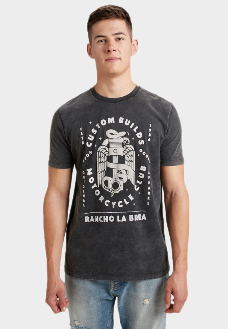 Next - T-Shirt print - grey