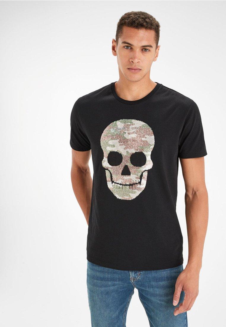 Next - 2 pack - T-Shirt print - black
