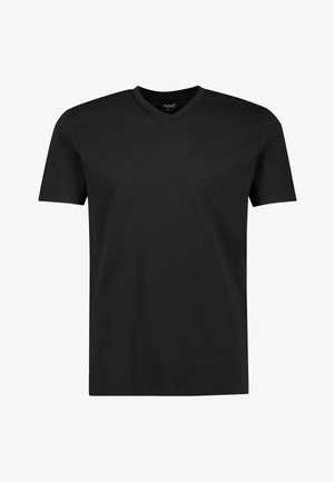 V-NECK T-SHIRT-SLIM FIT - Camiseta básica - black