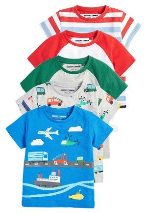 MULTI 5 PACK TRANSPORT T-SHIRTS (3MTHS-7YRS) - T-shirt print - blue
