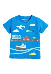 Next - MULTI 5 PACK TRANSPORT T-SHIRTS (3MTHS-7YRS) - T-shirt imprimé - blue - 3