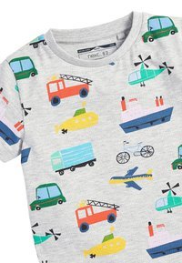 Next - MULTI 5 PACK TRANSPORT T-SHIRTS (3MTHS-7YRS) - T-shirt imprimé - blue - 5