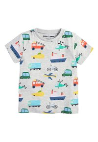Next - MULTI 5 PACK TRANSPORT T-SHIRTS (3MTHS-7YRS) - T-shirt imprimé - blue - 1