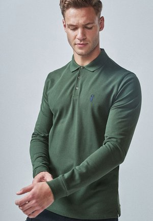 LONG SLEEVE PIQUE POLO - Polo - green