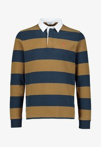 Next - TAN/NAVY STRIPE RUGBY SHIRT - Piké - brown - 3