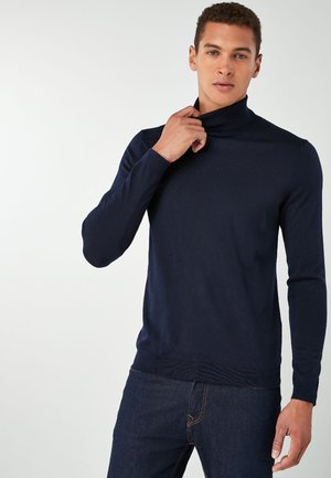 MERINO ROLL NECK - Jumper - blue
