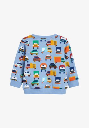BLUE CAR ALL OVER PRINT CREW TOP (3MTHS-7YRS) - Sweater - blue