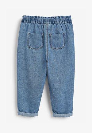 ELASTICATED WAIST  - Straight leg jeans - blue