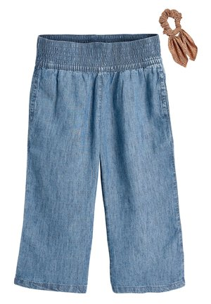 DENIM LIGHT WASH CULOTTES WITH SCRUNCHIE (3-16YRS) - Džíny Straight Fit - blue