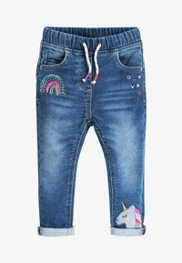 Next - BLUE UNICORN PULL-ON JEANS (3MTHS-7YRS) - Jeans Skinny Fit - blue - 0