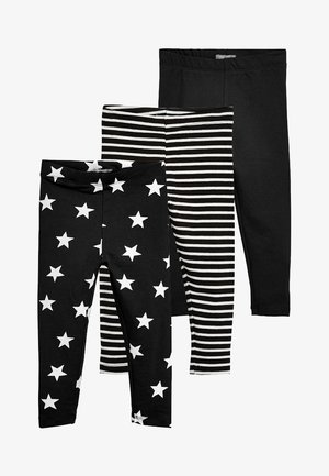 3 PACK - Trousers - black