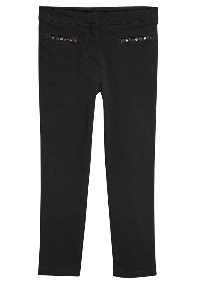 BLACK EMBROIDERED SKINNY TROUSERS (3-16YRS) - Broek - black