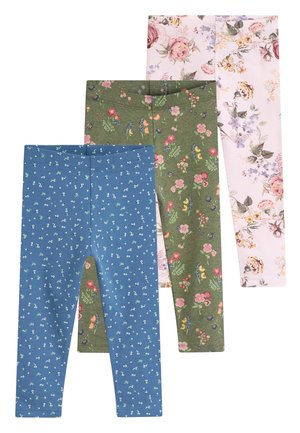 NAVY/PINK 3 PACK DITSY FLORAL LEGGINGS (3MTHS-7YRS) - Leggings - Trousers - pink