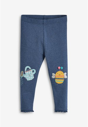 BEE EMBROIDERED LEGGINGS (3MTHS-7YRS) - Leggings - blue