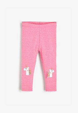 3 PACK UNICORN EMBELLISHED LEGGINGS (3MTHS-8YRS) - Leggings - Trousers - pink