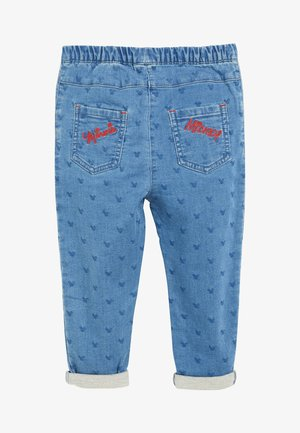 DENIM BLUE MINNIE MOUSE & MICKEY MOUSE EMBELLISHED JEANS (3M - Relaxed fit jeans - blue