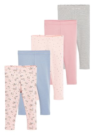PINK/BLUE 5 PACK PRETTY LEGGINGS (3MTHS-7YRS) - Leggings - Trousers - pink