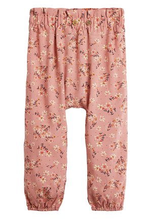 PINK/RUST VISCOSE TROUSERS (3MTHS-10YRS) - Pantalon classique - pink