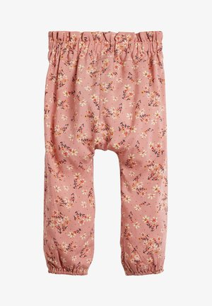 PINK/RUST VISCOSE TROUSERS (3MTHS-10YRS) - Broek - pink