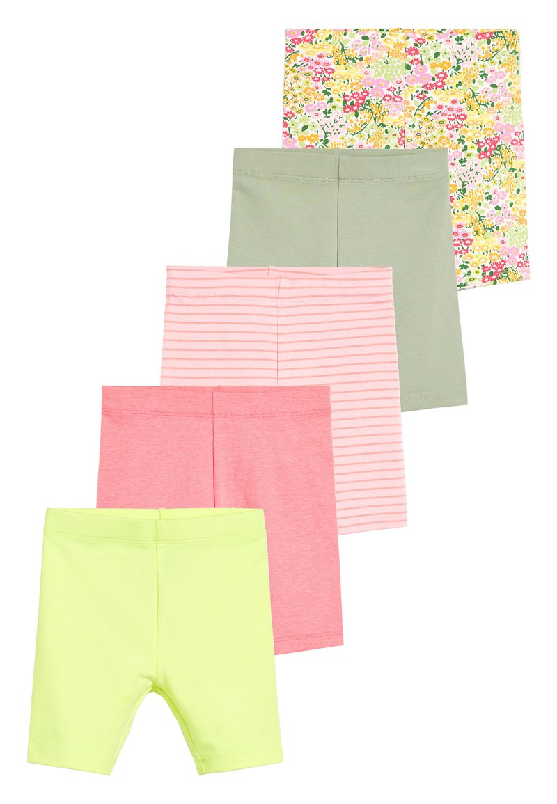 Next - MULTI 5 PACK SHORTS (3MTHS-7YRS) - Leggings - Trousers - pink