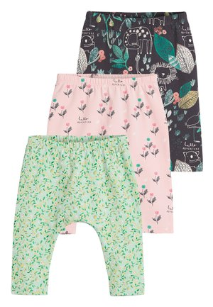 MULTI 3 PACK GOTS ORGANIC COTTON LEGGINGS (0MTHS-2YRS) - Legginsy - green
