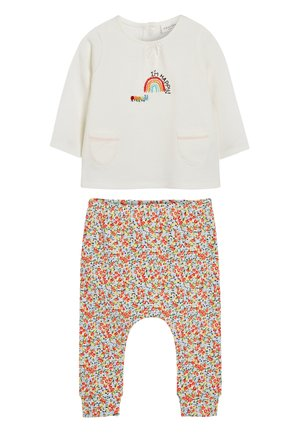 MULTI 2 PIECE FLORAL EMBROIDERY SET (0MTHS-2YRS) - Sweatshirt - off-white