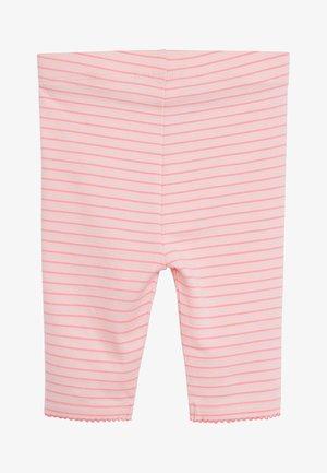 RAINBOW STRIPE CROPPED LEGGINGS - Legging - pink