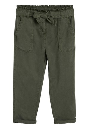 KHAKI PAPERBAG WAIST TROUSERS (3-16YRS) - Pantalon classique - green