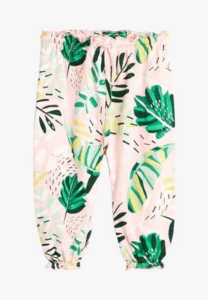 PALM PRINT - Tracksuit bottoms - pink