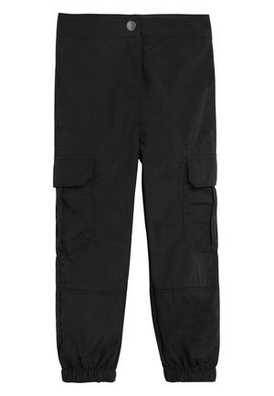 BLACK CARGO TROUSERS (3-16YRS) - Trousers - black