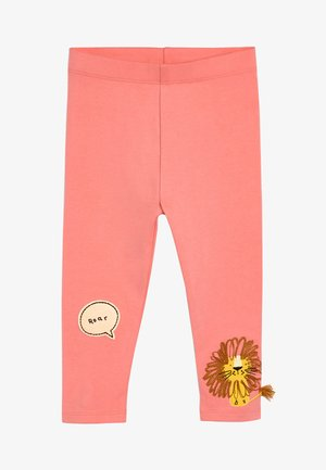 PINK LION EMBROIDERED LEGGINGS (3MTHS-7YRS) - Leggings - Trousers - pink