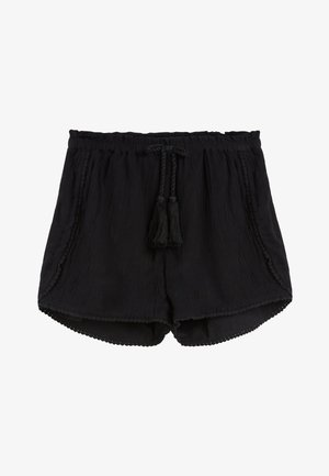 BLACK TRIM DETAIL SHORTS (3-16YRS) - Shorts - black