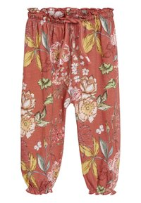 Next - RUST FLORAL TROUSERS (3MTHS-7YRS) - Tracksuit bottoms - red - 0