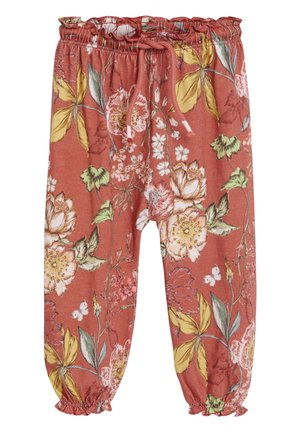 RUST FLORAL TROUSERS (3MTHS-7YRS) - Tracksuit bottoms - red
