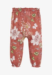 Next - RUST FLORAL TROUSERS (3MTHS-7YRS) - Tracksuit bottoms - red - 1