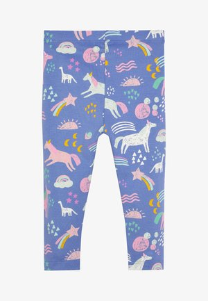 BLUE UNICORN ALL OVER PRINT LEGGINGS (3MTHS-7YRS) - Leggings - Trousers - blue