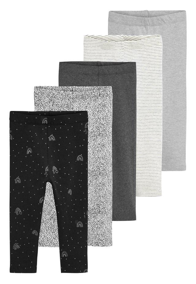MONOCHROME 5 PACK LEGGINGS (3MTHS-7YRS) - Leggings - Trousers - black