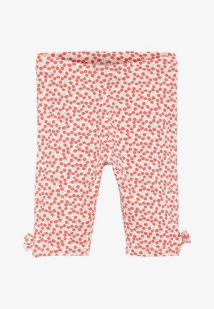 CHERRY ALL OVER PRINT 5 PACK BOW CROPPED LEGGINGS (3MTHS-7YRS) - Leggings - Trousers - red