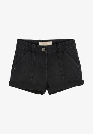 TURN-UP - Denim shorts - black